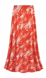 SALE! Customizable Orange Wavy Abstract Slinky Print Plus Size & Supersize Skirts - Sizes Lg XL 1x 2x 3x 4x 5x 6x 7x 8x 9x