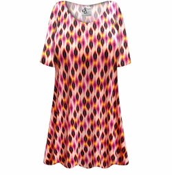 SALE! Customizable Magenta Orange Abstract Slinky Print Plus Size & Supersize Short or Long Sleeve Shirts - Tunics - Tank Tops - Sizes Lg XL 1x 2x 3x 4x 5x 6x 7x 8x 9x