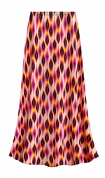 SALE! Customizable Magenta Orange Abstract Slinky Print Plus Size & Supersize Skirts - Sizes Lg XL 1x 2x 3x 4x 5x 6x 7x 8x 9x