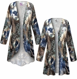 SALE! Customizable Animal Medley Slinky Print Plus Size & Supersize Jackets & Dusters - Sizes Lg XL 1x 2x 3x 4x 5x 6x 7x 8x 9x