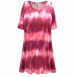 SALE! Customizable Pink Abstract Slinky Print Plus Size & Supersize Short or Long Sleeve Shirts - Tunics - Tank Tops - Sizes Lg XL 1x 2x 3x 4x 5x 6x 7x 8x 9x