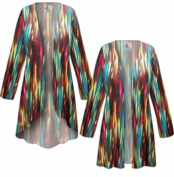 SOLD OUT! SALE! Customizable Stream Slinky Print Plus Size & Supersize Jackets & Dusters - Sizes Lg XL 1x 2x 3x 4x 5x 6x 7x 8x 9x