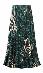 SALE! Customizable Black & Teal Animal Slinky Print Plus Size & Supersize Skirts - Sizes Lg XL 1x 2x 3x 4x 5x 6x 7x 8x 9x