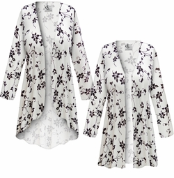 SALE! Customizable Plus Size Embossed Black & Gold Floral Slinky Print Jackets & Dusters - Sizes Lg XL 1x 2x 3x 4x 5x 6x 7x 8x 9x