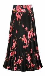 SOLD OUT! SALE! Customizable Plus Size Plum Blossom Slinky Print Skirts - Sizes Lg XL 1x 2x 3x 4x 5x 6x 7x 8x 9x