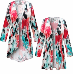 SALE! Customizable Plus Size Valentina Abstract Slinky Print Jackets & Dusters - Sizes Lg XL 1x 2x 3x 4x 5x 6x 7x 8x 9x