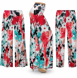 SALE! Customizable Valentina Abstract Slinky Print Plus Size & Supersize Palazzo Pants - Tapered Pants - Sizes Lg XL 1x 2x 3x 4x 5x 6x 7x 8x 9x