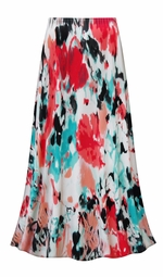 SALE! Customizable Plus Size Valentina Abstract Slinky Print Skirts - Sizes Lg XL 1x 2x 3x 4x 5x 6x 7x 8x 9x