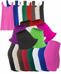 SALE! Spandex Plus Size Swim Shorts - Skirts & Tanks Lg XL 1x 2x 3x 4x 5x 6x 7x 8x 9x Supersize Many Colors!