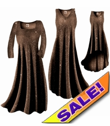 SOLD OUT! Sparkly Copper Gold Glitter Slinky Plus Size & Supersize Dresses Jackets & Shirts 1x