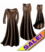 CLEARANCE! Sparkly Copper Gold Glitter Slinky Plus Size & Supersize Dresses Jackets & Shirts 1x