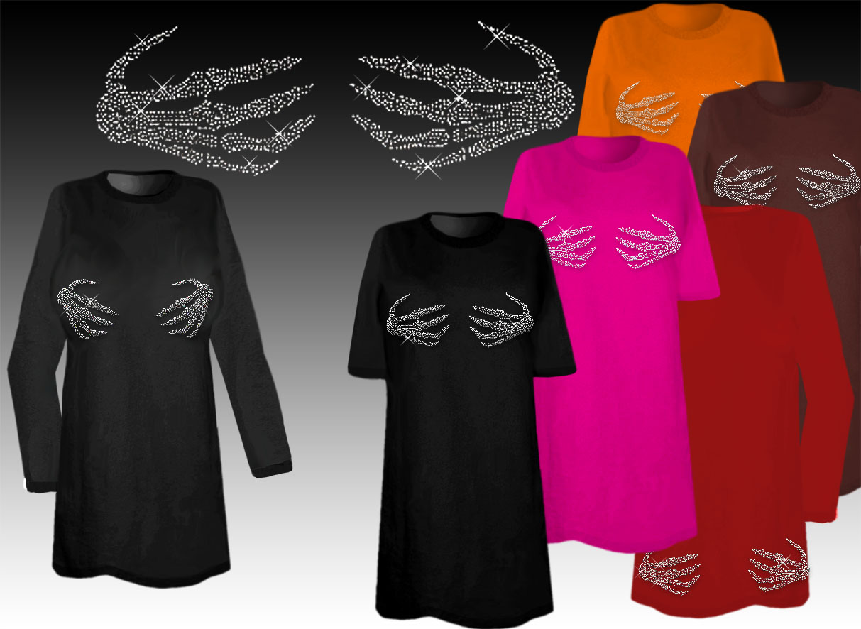 sparkly rhinestud rhinestone skeleton hands halloween costume plus size supersize t shirts l xl 1 2x 3x 4x 5x 6x 7x 8x