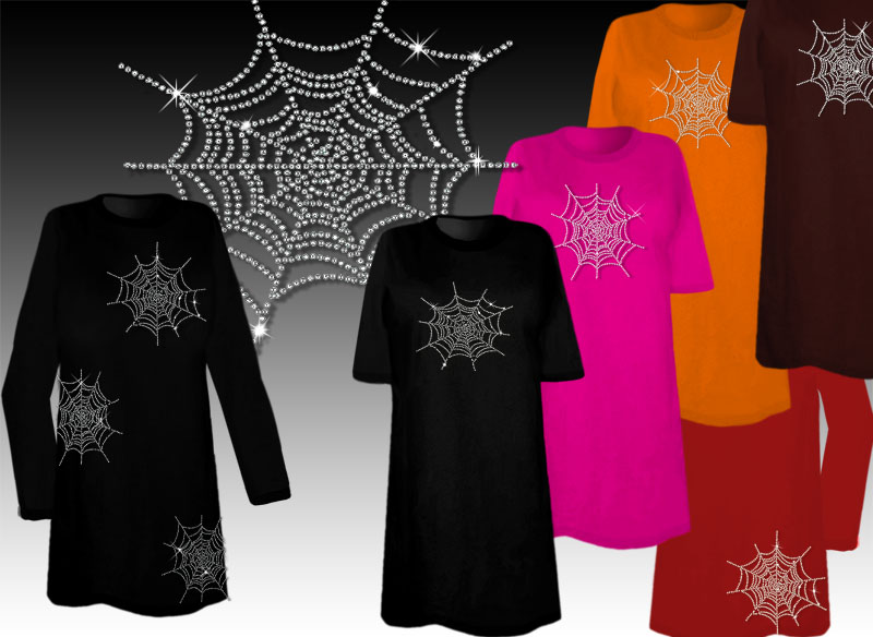 sparkly rhinestud rhinestone spider web halloween costume plus size supersize spiderweb t shirts l xl 1 2x 3x 4x 5x 6x 7x 8x