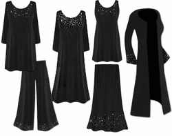 Starry Night Ensembles!<br>Yummy Slinkys or Lightweight Poly/Cotton Jersey<br>Plus Size & Supersize Lg to 9x
