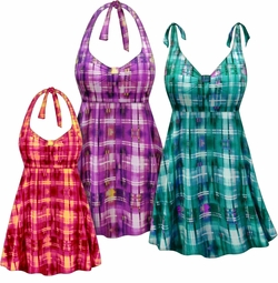 NEW! Customizable Plus Size Sunseeker Print Halter or Shoulder Strap 2pc Swimsuit/SwimDress 0x 1x 2x 3x 4x 5x 6x 7x 8x 9x