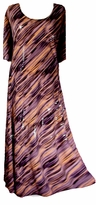 SOLD OUT! Tan & Gray Sequins Princess Cut Dress Plus Size & Supersize   4x