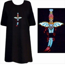 SOLD OUT! Tattoo Prints!  Bleeding Dagger Plus Size & Supersize T-Shirts