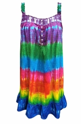 SALE! Rainbow Plus Size Tie Dye Sun Dress / Loungewear 3x 4x
