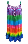 SOLD OUT! Rainbow Plus Size Tie Dye Sun Dress / Loungewear 3x