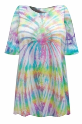 SALE! Festival Pastel Colors Tie Dye Plus Size T-Shirt L XL 2x 3x 4x 5x 6x