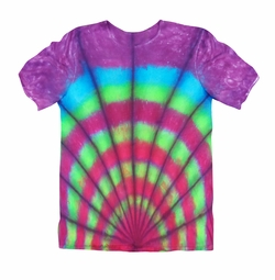 SALE! Rainbow Fan Print Tie Dye Plus Size T-Shirt L XL 2x 3x 4x 5x 6x