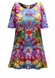 SALE! Psychedelic Ice Tie Dye Plus Size & Supersize X-Long T-Shirt 0x 1x 2x 3x 4x 5x 6x 7x 8x