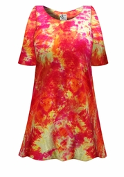 SALE! Sherbert Tie Dye Plus Size & Supersize X-Long T-Shirt 0x 1x 2x 3x 4x 5x 6x 7x 8x