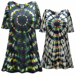 SALE! Black Mass Tie Dye Plus Size & Supersize X-Long T-Shirt 0x 1x 2x 3x 4x 5x 6x 7x 8x