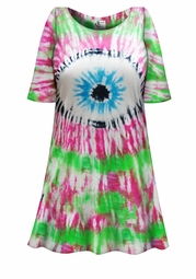 SALE! Eye Tie Dye Plus Size & Supersize X-Long T-Shirt 0x 1x 2x 3x 4x 5x 6x 7x 8x