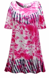 SALE! Pink Marble & Black Lines Tie Dye Plus Size & Supersize X-Long T-Shirt 0x 1x 2x 3x 4x 5x 6x 7x 8x