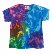 FINAL CLEARANCE SALE! Delta Blue Tie Dye Plus Size & Supersize X-Long T-Shirt 4XL