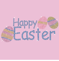 SALE! Happy Easter Sparkly Rhinestud Plus Size & Supersize T-Shirts S M L XL 2x 3x 4x 5x 6x 7x 8x 9x (All Colors)