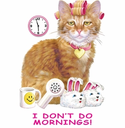 SALE! I Don't Do Mornings Cat In Rollers Plus Size & Supersize T-Shirts S M L XL 2x 3x 4x 5x 6x 7x 8x 9x (All Colors)