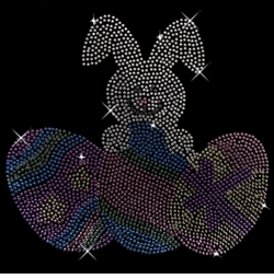SALE! Easter Bunny & Eggs Sparkly Rhinestud Plus Size & Supersize T-Shirts S M L XL 2x 3x 4x 5x 6x 7x 8x 9x (All Colors)