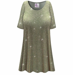 SALE! Customizable Plus Size Sparkling Olive Glitter Slinky Print Short or Long Sleeve Shirts - Tunics - Tank Tops - Sizes Lg XL 1x 2x 3x 4x 5x 6x 7x 8x 9x