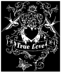 SALE! True Love in White Plus Size & Supersize T-Shirts S M L XL 2x 3x 4x 5x 6x 7x 8x (Darks Only)