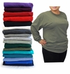 SALE! Plus Size Unisex Black White Gray Red Purple Green or Blue Long Sleeve T-Shirt 2x 3x 4x 5x 6x