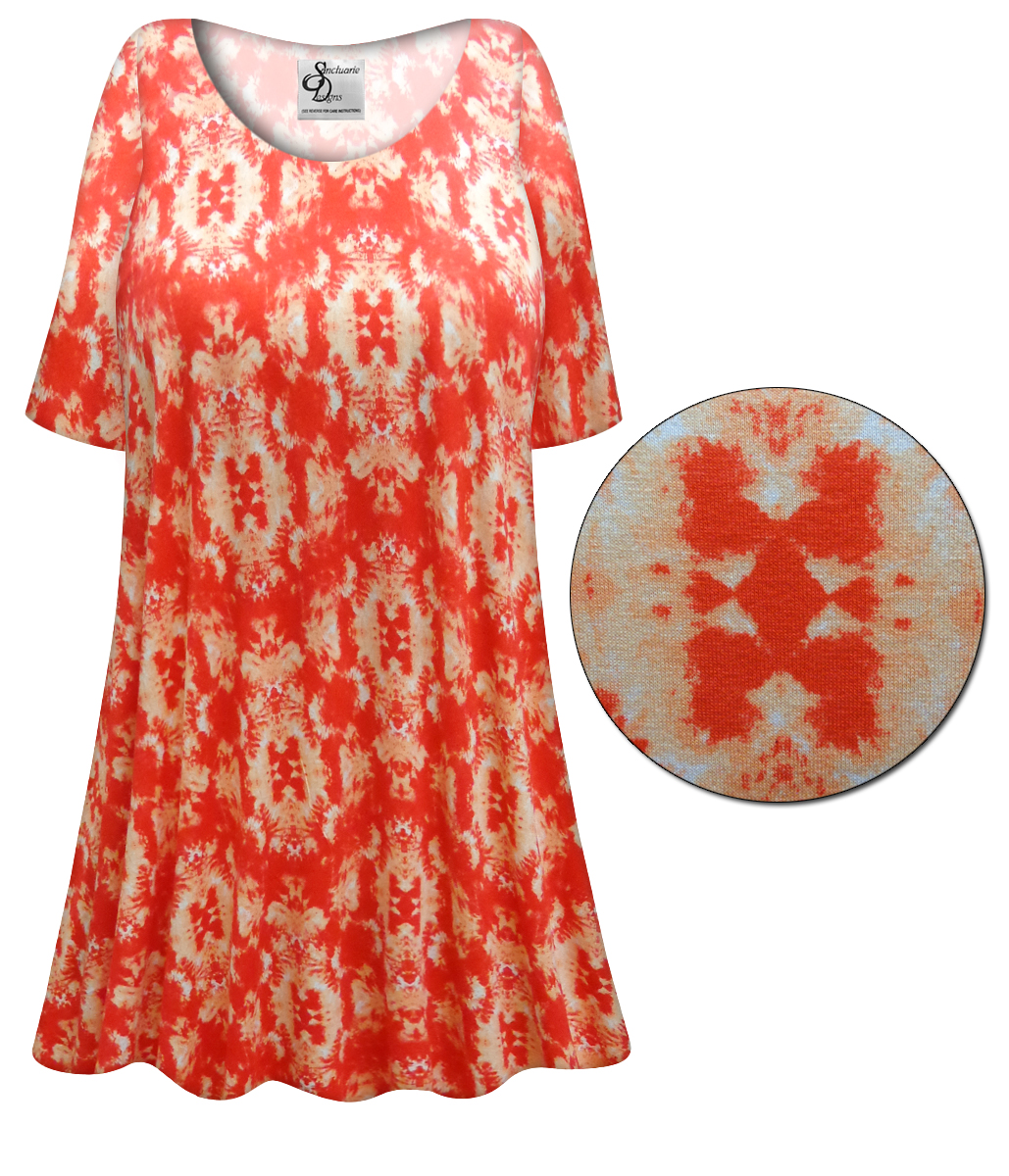 Sold Out New Customizable Orange Inkblots Plus Size