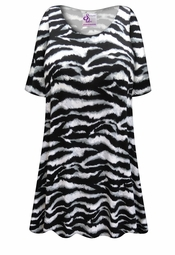 Customizable Plus Size Zebra Print Extra Long T-Shirts 0x 1x 2x 3x 4x 5x 6x 7x 8x 9x