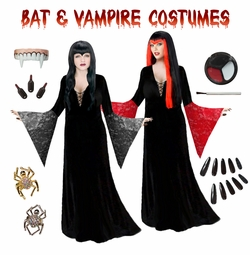 Darkness Arises! Vampire & Bat Plus Size Costumes