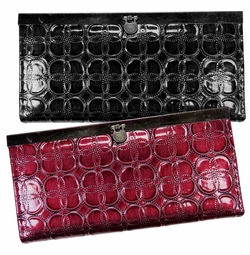 CLEARANCE! Wine or Black Embossed Wallets