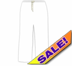 SOLD OUT! White Elastic Waist Wide Leg Plus Size Pant 5x