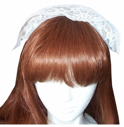 SALE! White Maid's Lace Headband Halloween Costume Accessory