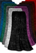 Yummy Soft Shimmering Crush Stretch Velvet Plus Size & Supersize Skirts - Many Colors! 0x 1x 2x 3x 4x 5x 6x 7x 8x 9x