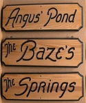 "style -AR- 5.5""x 16"" formal-edge Cedar Sign"