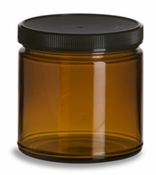 8 Oz. Amber Glass Jar