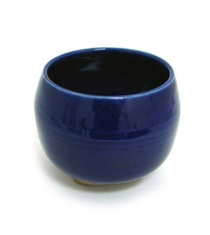 Incense Bowl-Glazed Ceramic-Cobalt Blue