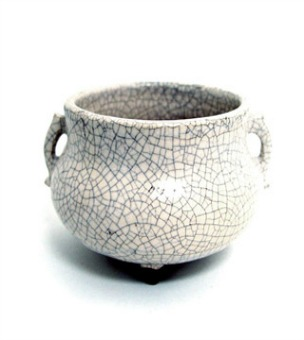 Incense Bowl: Glazed Ceramic-Moonlight