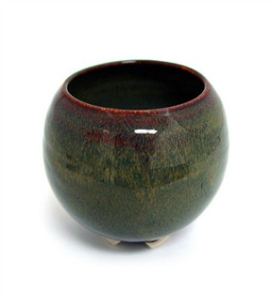 Incense Bowl: Glazed Ceramic-Nova