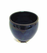 Incense Bowl:Glazed Ceramic-Obsidian